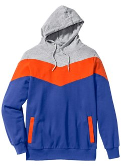 Sweatshirt med luva, normal passform, RAINBOW, ljusgråmelerad/orange/lila