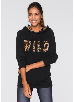 Sweatshirt, bpc bonprix collection, leopard svart