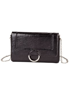 Clutch med metallring, bpc bonprix collection, svart/silver