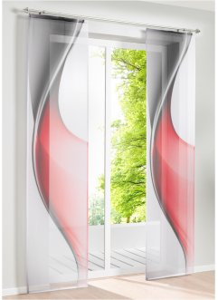 Panelgardin med grafiskt tryck (1-pack), bpc living bonprix collection