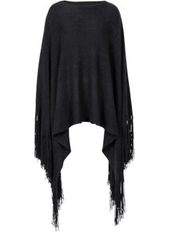 Poncho med extra långa fransar, bpc bonprix collection