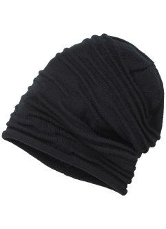 Rynkad beanie, enfärgad, bpc bonprix collection