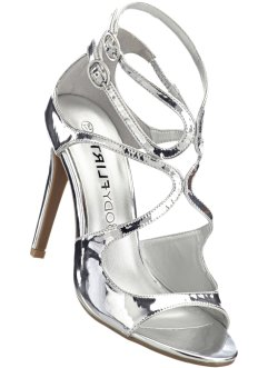 Sandalett, BODYFLIRT boutique, silver, metallic