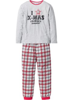 Barnpyjamas (2 delar), bpc bonprix collection, ljusgråmelerad