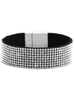 Armband med strasstenar, bpc bonprix collection, svart/vit