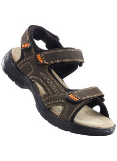 Skinnsandal, bpc bonprix collection, brun