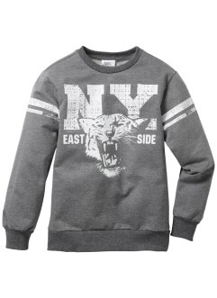 Sweatshirt med collegetryck, bpc bonprix collection, gråmelerad