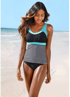 Tankini (2 delar), bpc bonprix collection, svart/vit, randig
