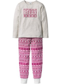 Pyjamas (2 delar), bpc bonprix collection, naturmelerad