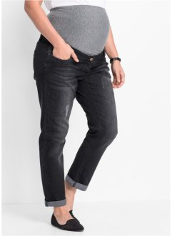 Mammamode boyfriendjeans, uppvikta ben, bpc bonprix collection, black stone