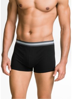 Boxershorts (3-pack), ekologisk bomull, bpc bonprix collection, svarta