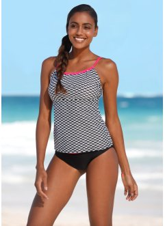 Tankini (2 delar), bpc bonprix collection, svart/vit