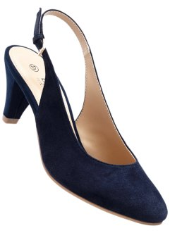 Pumps med slingback, bpc selection, mörkblå