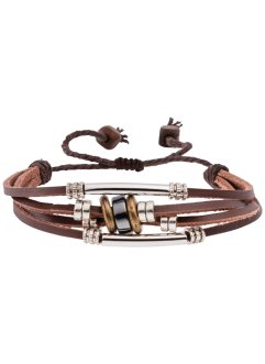 Läderarmband med 4 band, bpc bonprix collection, brunt