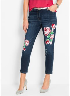 Jeans med blommönster, bpc selection, blue stone