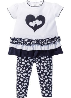 Baby T-shirt + leggings (2 delar), ekologisk bomull, bpc bonprix collection