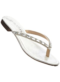 Stringsandal, BODYFLIRT boutique, silver
