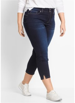 "7/8 push-up stretchjeans med sprund, ""rakt ben"", bpc bonprix collection, dark denim"