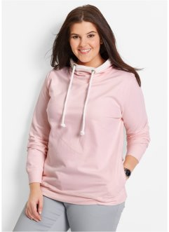 Sweatshirt med spets, bpc bonprix collection, pärlrosa
