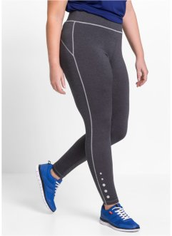 Funktionsleggings, bpc bonprix collection, skiffergråmelerad