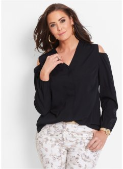 Blus med cut-outs, bpc selection, svart