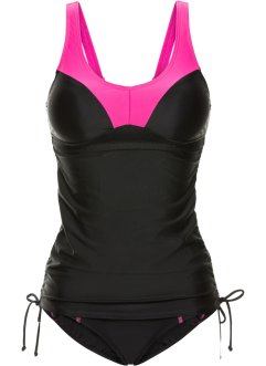 Minimizer tankini (2 delar), bpc bonprix collection, pink/svart
