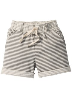 Sweatbermudas, bpc bonprix collection, beige/grå, randig