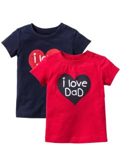 Baby-T-shirt (2-pack), ekologisk bomull, bpc bonprix collection