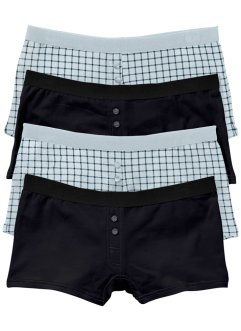 Boxertrosa (4-pack), bpc bonprix collection, silvergrå/skiffergrå, mönstrad