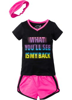 Topp + shorts + bandana (3-delat sportset), bpc bonprix collection