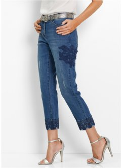 7/8-stretchjeans med spetsapplikation, bpc selection premium