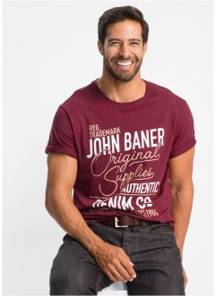 T-shirt med tryck, normal passform, John Baner JEANSWEAR