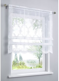 Hissgardin i jacquard med klämmor, bpc living bonprix collection