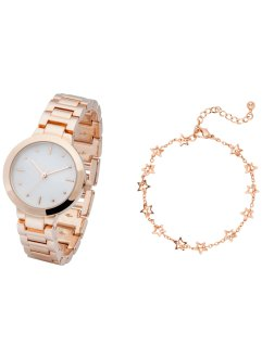 Armbandsur, set med armband, bpc bonprix collection