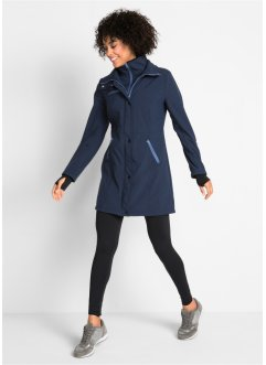 Lång stretchjacka i softshell, 2-i-1 look, bpc bonprix collection