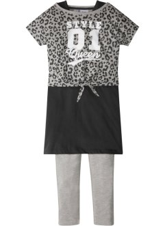 Boxy-topp + klänning + leggings (3-delat set), bpc bonprix collection