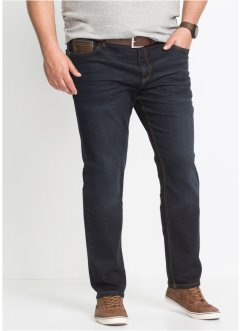 Stretchjeans med detaljer i skinnimitation, slim fit, straight, John Baner JEANSWEAR