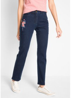 Stretchjeans med broderier, bpc bonprix collection