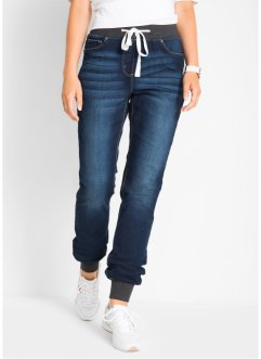 Boyfriendjeans med ribbstickad linning, bpc bonprix collection
