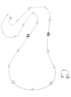 Halsband och ring (2-delat set), bpc bonprix collection