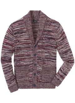 Melerad cardigan med sjalkrage, normal passform, bpc bonprix collection