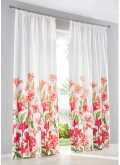 Gardinlängd med blomtryck (1-pack), bpc living bonprix collection