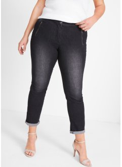 Stretchjeans med broderi, bpc bonprix collection