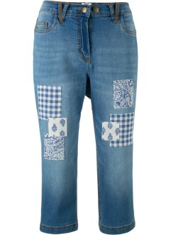 Caprijeans i boyfriendstil med applikationer, bpc bonprix collection