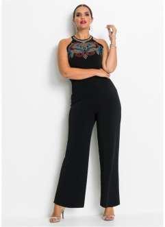 Jumpsuit med strassapplikationer, BODYFLIRT boutique