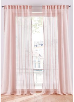 Transparent randig gardin (1-pack), bpc living bonprix collection