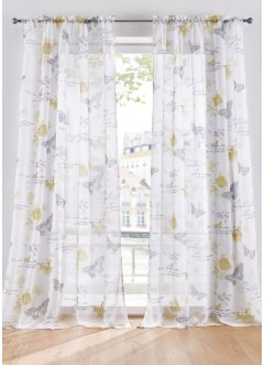 Mönstrad transparent gardin (1-pack), bpc living bonprix collection