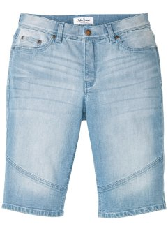 Stretchiga jeansbermudas, normal passform, John Baner JEANSWEAR