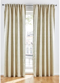 Gardinlängd i jacquard med glansig effekt (1-pack), bpc living bonprix collection