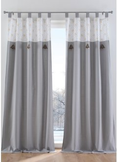 Gardinlängd med julmotiv (1-pack), ekologisk bomull, bpc living bonprix collection